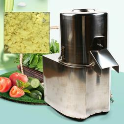 110V Electric Vegetable Chopper Stainless Steel Cutter Comme