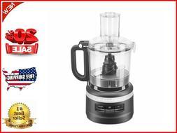 7 Cup 3 Speed Pulse Food Processor Chopper, Black Matte