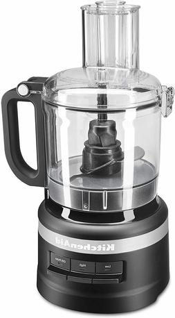 KitchenAid 7-Cup Food Processor in Matte Black