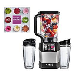 Ninja Auto-IQ Nutri Ninja 1200W 72oz Blender, 2 24oz Cups, &