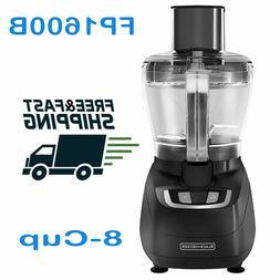 BLACK+DECKER FP1600B 8-Cup Food Processor, Black