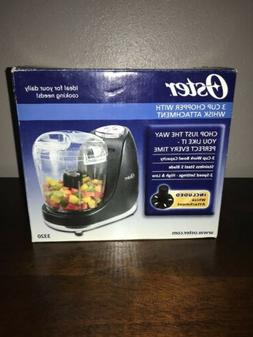 Oster FPSTMC3321 3-Cup Mini Chopper with Whisk, Black Food P