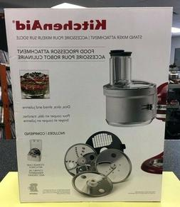 KitchenAid - KSM2FPA Food Processor Attachment Kit - Gray