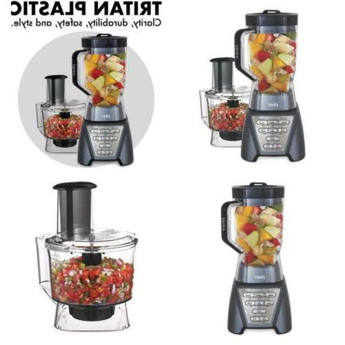 1200 Blender w/Professional Tritan Jar Food Processor Attach