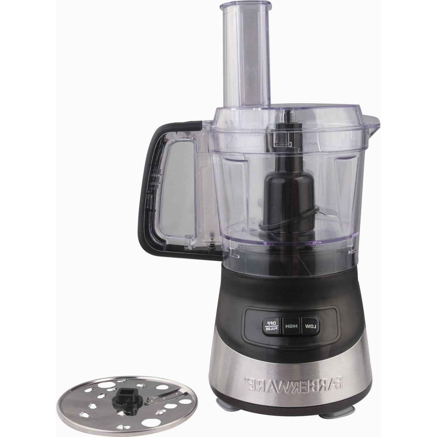 4 cup food processor with stainless steel