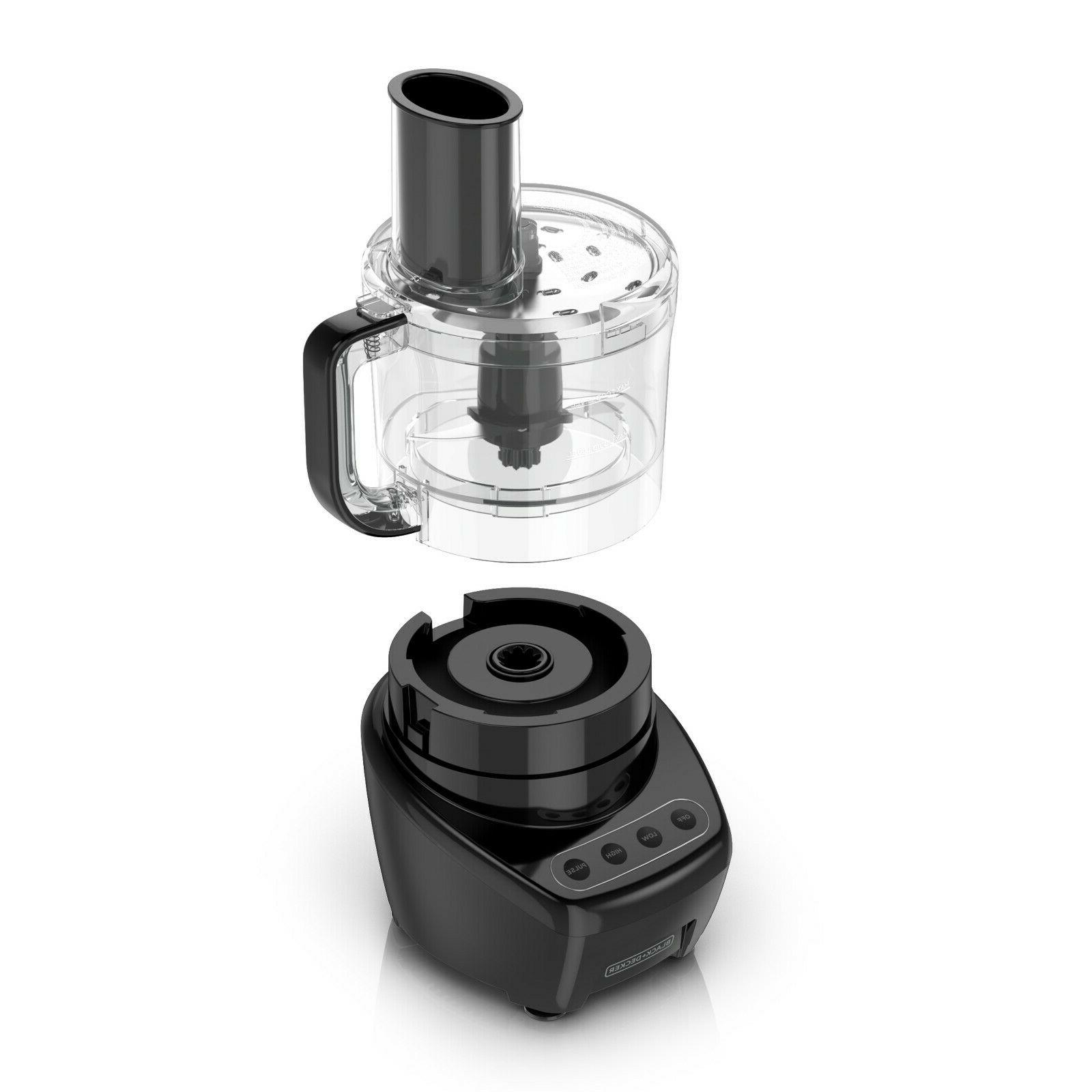 BLACK DECKER Easy Assembly 8-Cup Food 3-IN-1, Black,