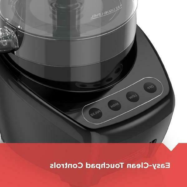 BLACK+DECKER Easy Assembly Food Processor, Black, FP4200B