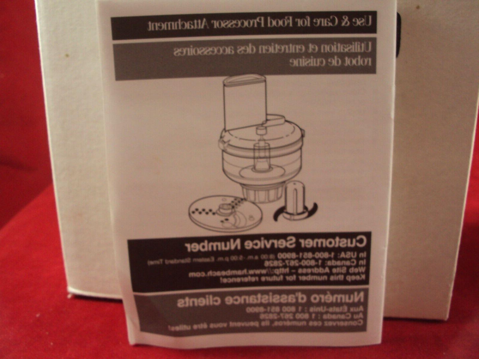 Hamilton Beach Blender Chef Food Attachment For Blender