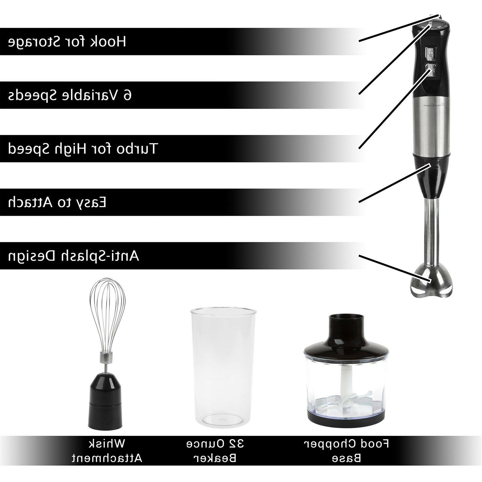 Immersion Food Processor Whisk Appliance