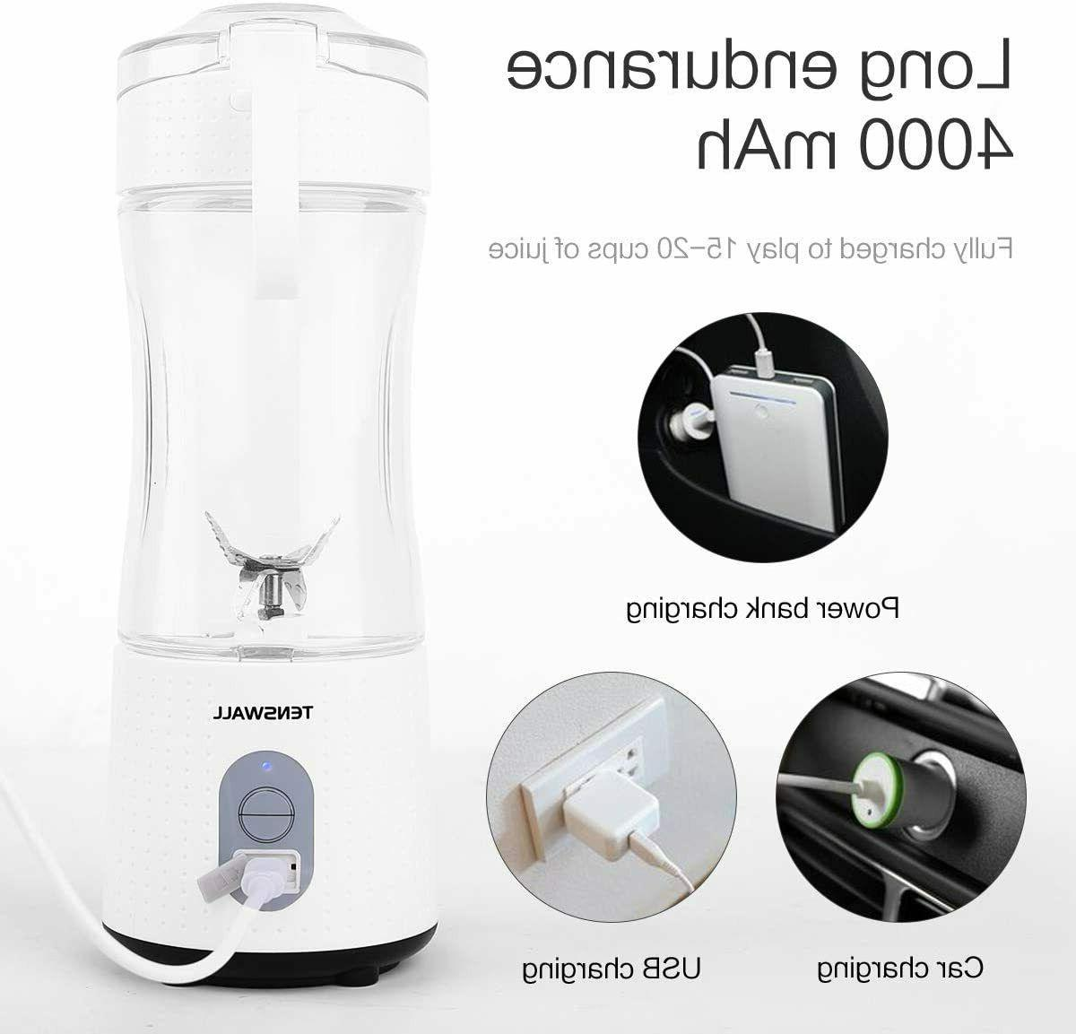 Portable Blender Processor Smoothie Maker Electric, White