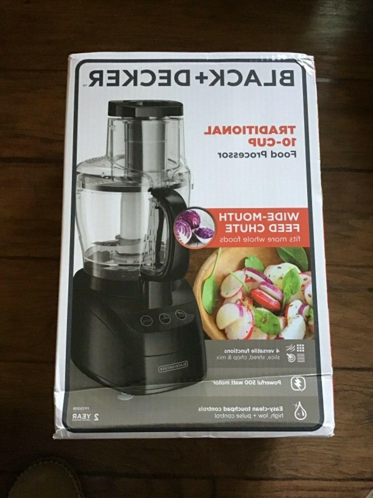 Black & Decker 500-Watt Wide-Mouth Food Processor Model FP25