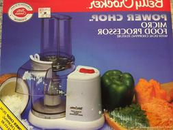 micro mini food processor power chop compact