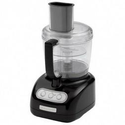 New KitchenAid 7-Cup Food Processor 2 Bowls  KFP720OB Black