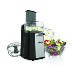 Oster Oskar 2-in-1 Salad Prep & Food Processor, Black Contin