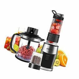 Smoothie Blender, Fochea 3 In 1 Food Processor Multi-Functio